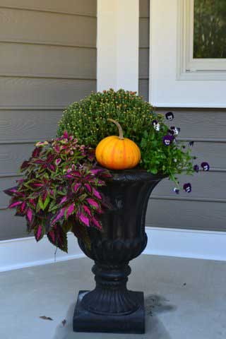 Deco planter pumpkin